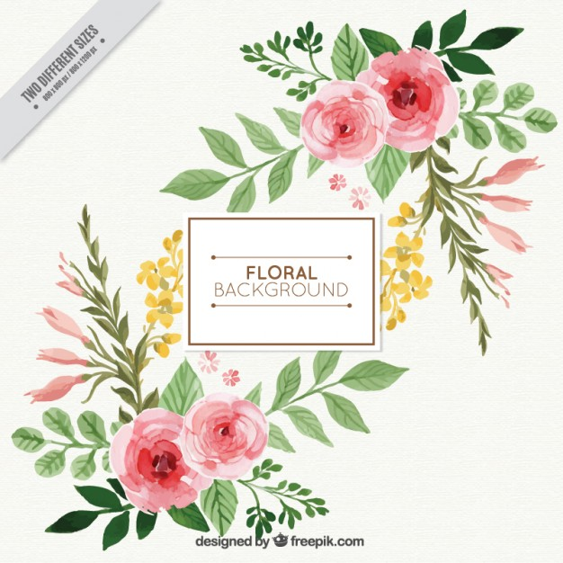Flower watercolor clipart background banner transparent stock Roses Vectors, Photos and PSD files | Free Download banner transparent stock