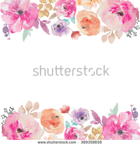Flower watercolor clipart background banner library stock 1000+ images about Background on Pinterest | Types of flowers ... banner library stock