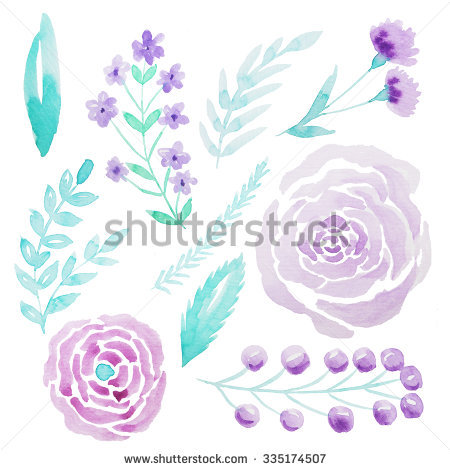 Flower watercolor clipart background png free stock Purple Watercolor Flowers Stock Images, Royalty-Free Images ... png free stock