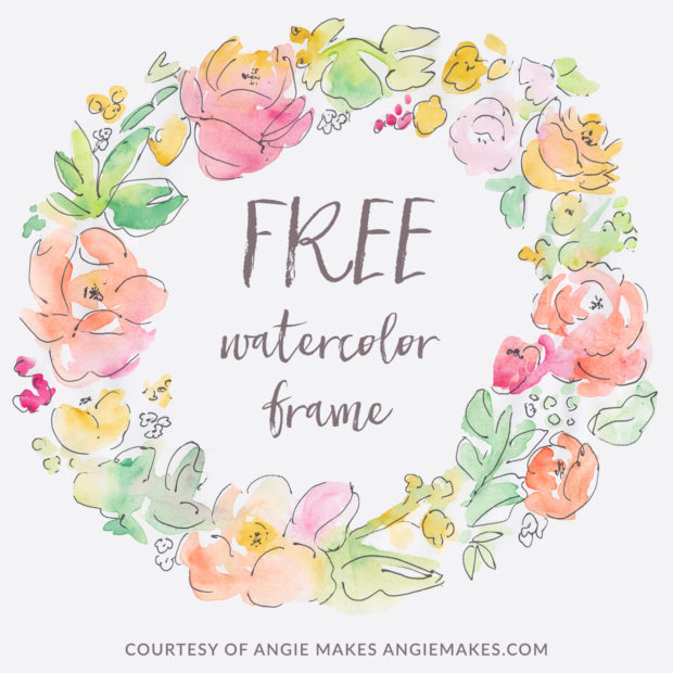 Flower watercolor clipart background picture library download Free Girly Graphics and Watercolor Clip Art- Angie Makes picture library download
