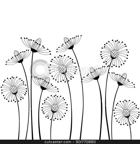 Flower with bandages clipart black and white jpg library stock garden clipart border - Google Search | clipart | Cartoon flowers ... jpg library stock