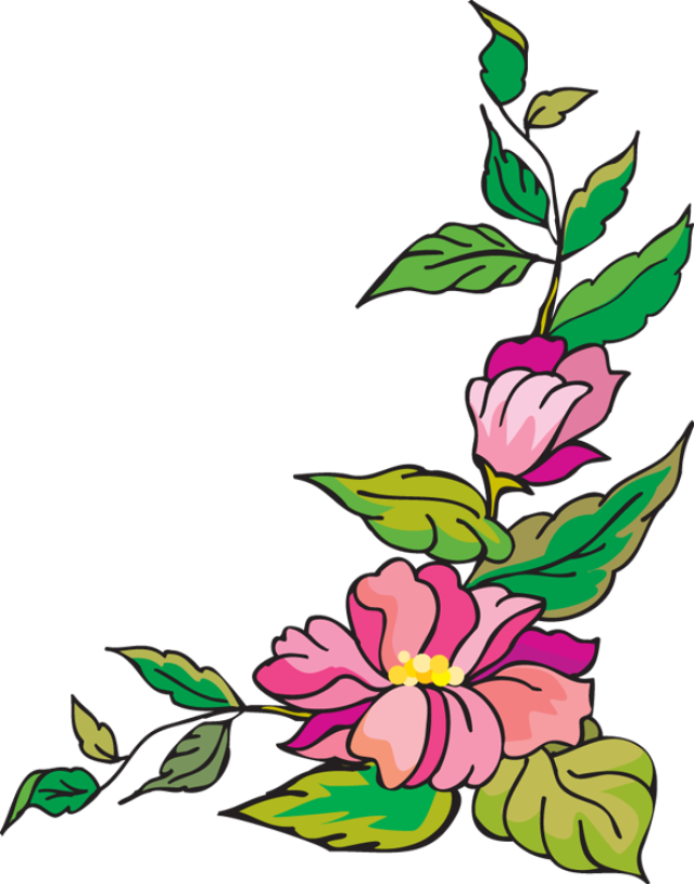 Flower with cross border clipart image Web Design & Development | Pinterest | Clip art and Flower images image