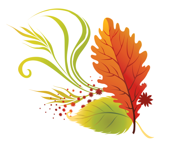 Flower with leaves clipart image black and white library Transparent Fall Leaves PNG Clipart Picture | Gallery Yopriceville ... image black and white library