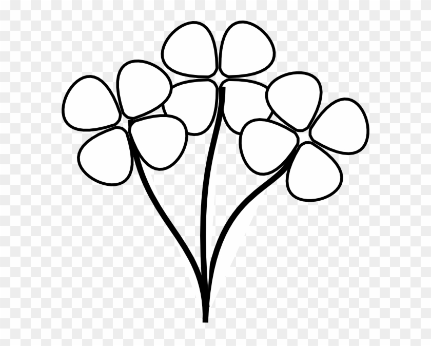Flower with stem clipart black and white image royalty free Vector Transparent Download Flower Stems Clipart - Flowers Cartoon ... image royalty free