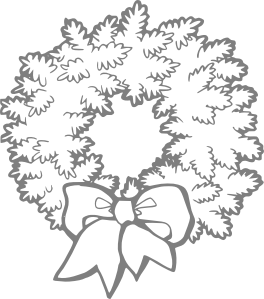 Flower wreath clipart black and white. Clip art at clker
