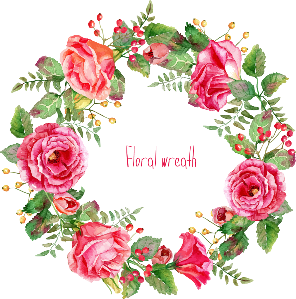 Free clipart watercolor flower banner transparent Free Watercolor Floral Wreath PNG - peoplepng.com banner transparent