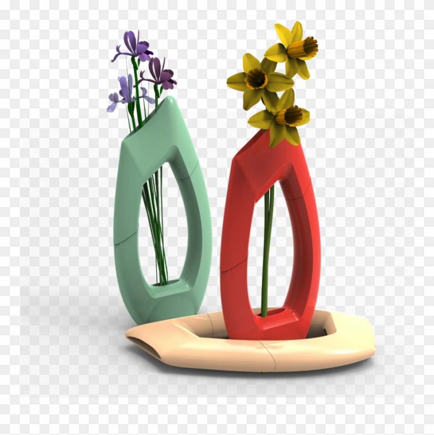 Flowers 3d clipart royalty free download Flower - 3d Printed Flower Vase Clipart (#388014) - PinClipart royalty free download