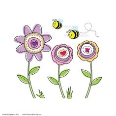 Flowers and bees clipart jpg transparent download Busy Bee Clip Art | Fat and Not Afraid | ANIMALS | Pinterest | Art ... jpg transparent download