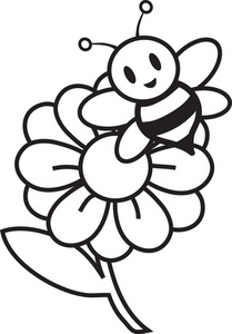 Flowers and bees clipart jpg royalty free download Bee And Flower Clipart - Clipart Kid jpg royalty free download