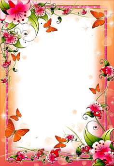 Flowers and borders banner free flower borders and frames free | ... borders - Image: Colorful ... banner free