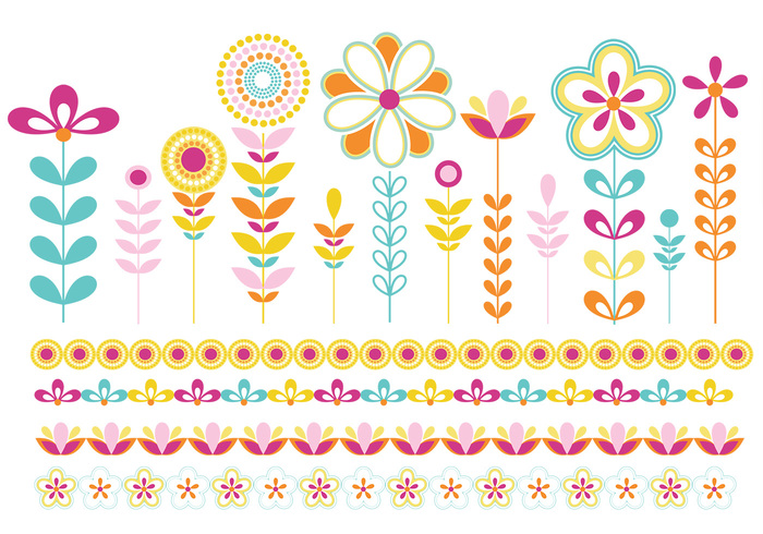Flowers and borders image free stock Flowers and Borders Vector Pack - Download Free Vector Art, Stock ... image free stock