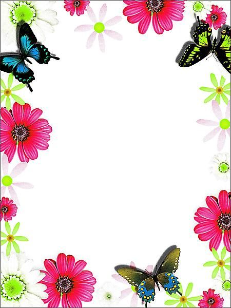 Flowers and borders jpg free library flower borders and frames free | ... borders - Image: Colorful ... jpg free library