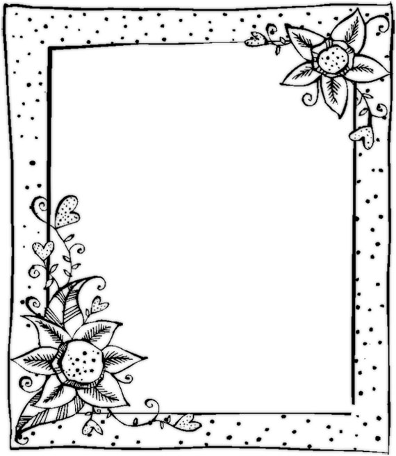 Flowers and borders picture download Black And White Flowers Borders Clipart - Clipart Kid picture download