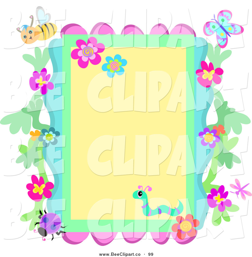 Flowers and borders png freeuse library Flowers And Insects Borders Clipart png freeuse library