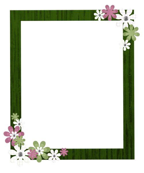 Flowers and borders royalty free pinterest pink floral borders | Flower Frame Digital Scrapbooking ... royalty free