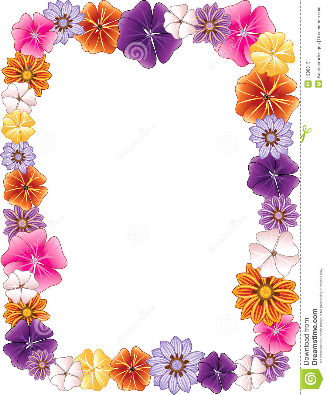 Flowers and borders svg free download Flowers Border Clipart - Clipart Kid svg free download