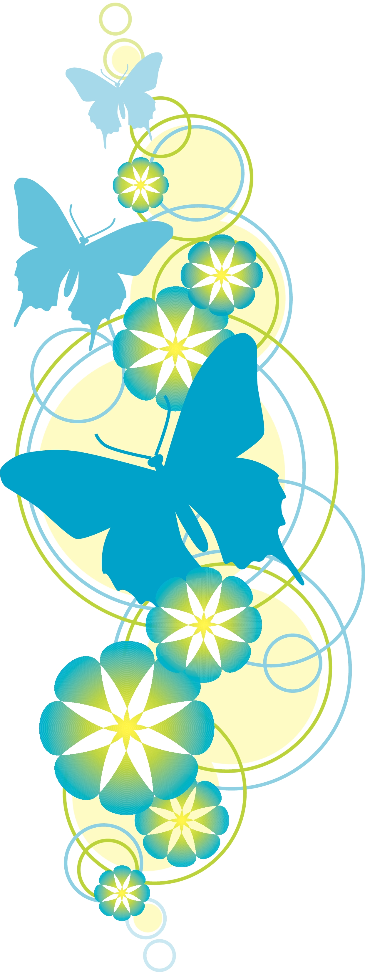Flowers and butterflies clipart image transparent stock Printable clipart of flowers and butterflies - ClipartFest image transparent stock