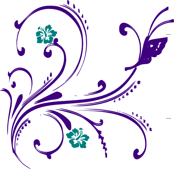 Butterfly flower clipart banner freeuse stock Clipart Flowers And Butterflies Border | Clipart Panda - Free ... banner freeuse stock