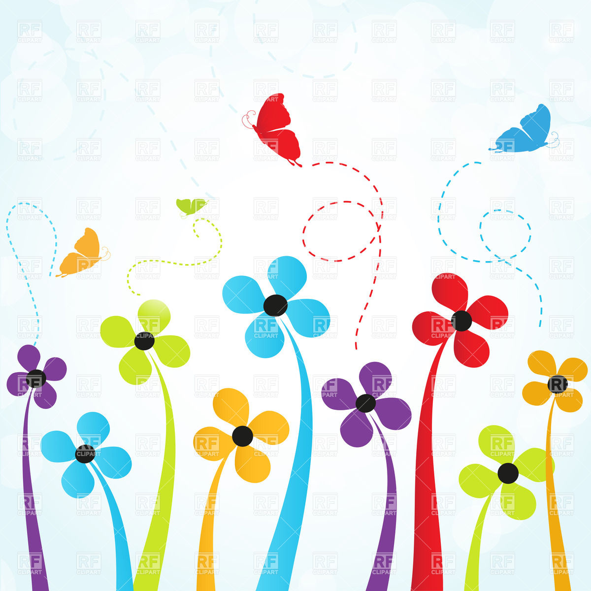 Flowers and butterflies clipart jpg library download Free clip art flowers and butterflies - ClipartFest jpg library download