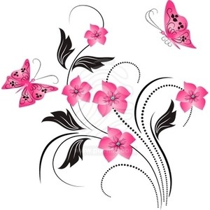 Flowers and butterflies clipart graphic royalty free Free butterfly and flower clipart - ClipartFest graphic royalty free