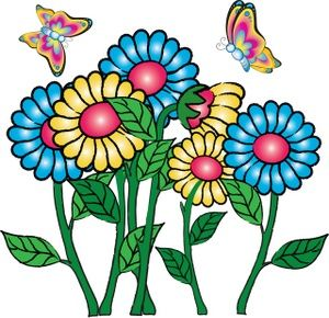 Flowers and butterfly clipart clip art free stock Cartoon Flowers Clip Art | Flowers Clip Art Images Flowers Stock ... clip art free stock