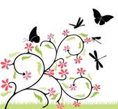 Flowers and butterfly clipart image transparent download Butterfly And Flower Clipart | Clipart Panda - Free Clipart Images image transparent download