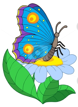 Flowers and butterfly clipart svg free stock Butterfly with flowers clipart - ClipartFox svg free stock