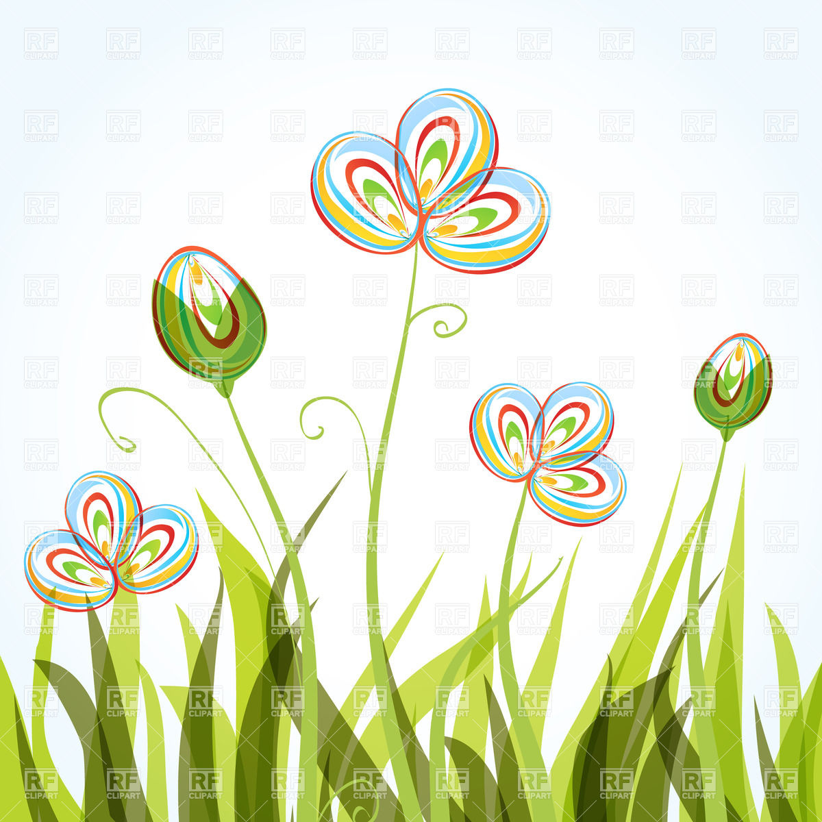 Flowers and grass clipart svg royalty free stock Flower grass clipart - ClipartFest svg royalty free stock