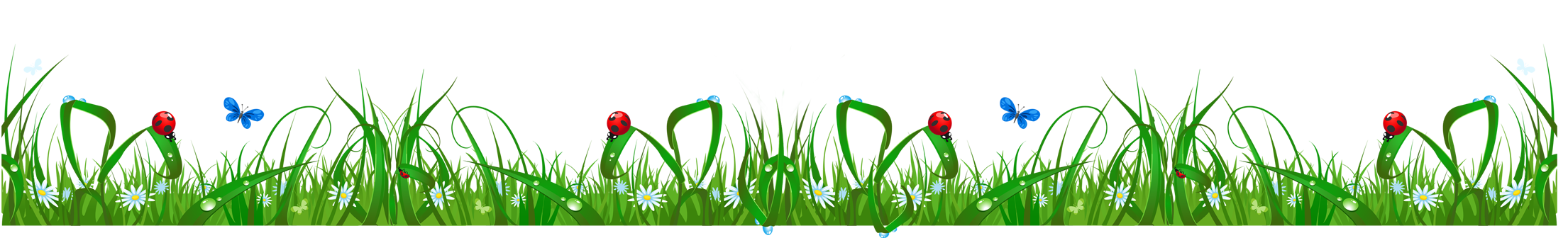 Flowers and grass clipart graphic royalty free stock Grass with Flowers and Ladybugs PNG Clipart graphic royalty free stock