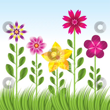 Flowers and grass clipart clip free stock Grass clipart with flower - ClipartFest clip free stock