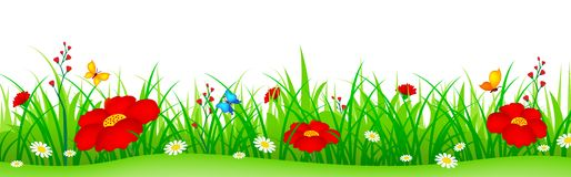 Flowers and grass clipart svg royalty free download Grass and flowers clipart - ClipartFest svg royalty free download