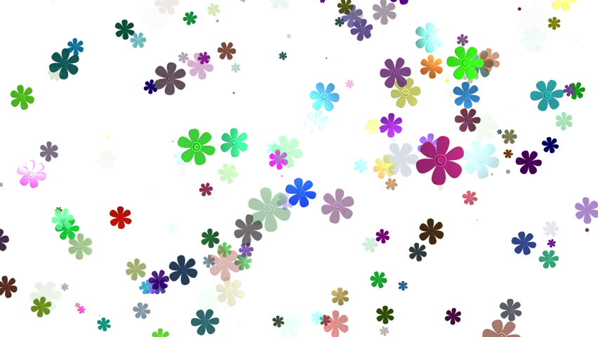 Flowers animation images clipart freeuse download Flying Spring Flowers Animation Stock Footage Video 3481997 ... clipart freeuse download