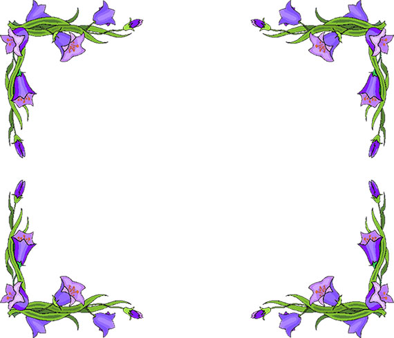 Flowers borders clip art clip art royalty free library Free Flower Borders - Flower Border Clipart clip art royalty free library