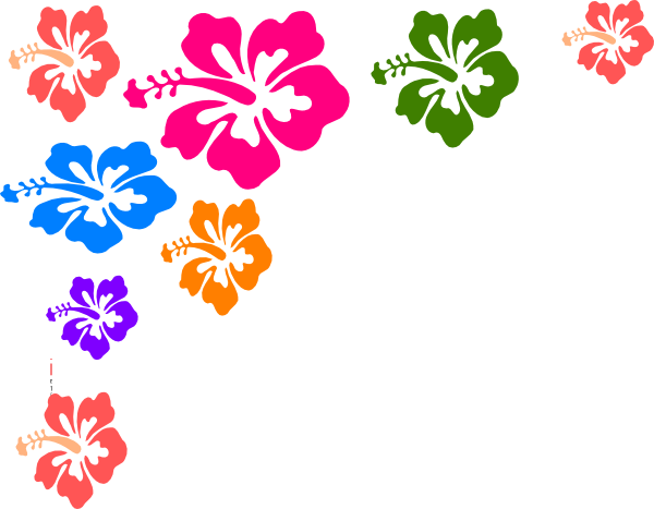 Flowers borders clip art graphic freeuse library Hawaiian Flower Clip Art Borders | Clipart Panda - Free Clipart Images graphic freeuse library