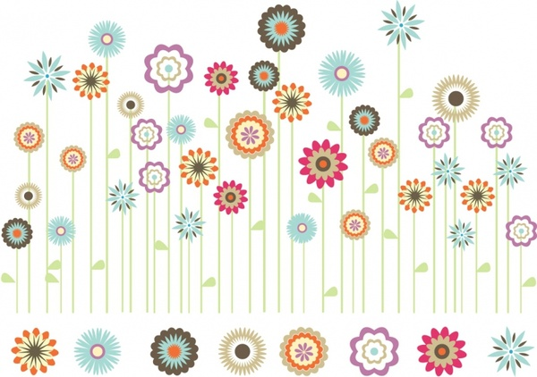 Flowers clip art free download vector black and white download Spring flowers clip art free vector download (210,279 Free vector ... vector black and white download
