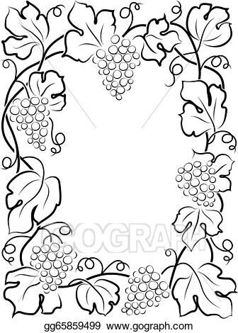 Flowers clipart black and white for labels. Vector art calligraphy frame