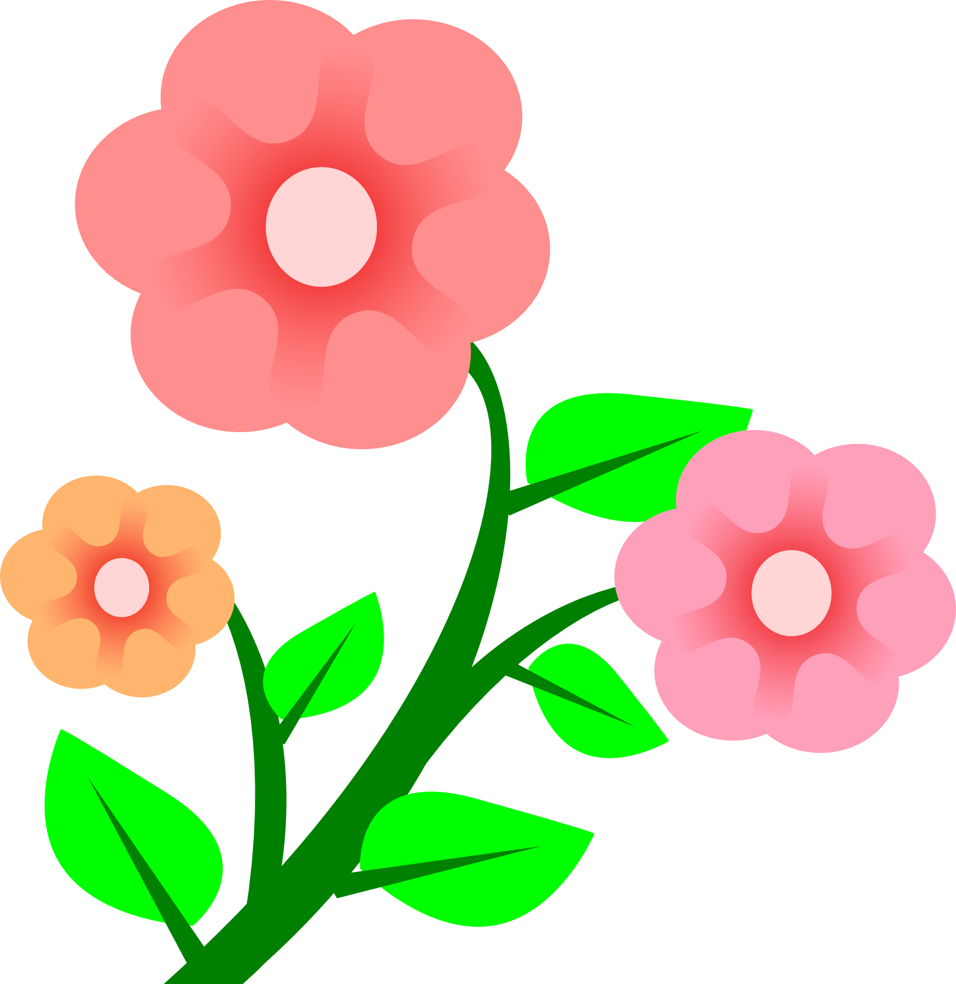 Short flower clipart image Flower Free content Spring Drawing Clip art - Flowers Graphics 1969 ... image