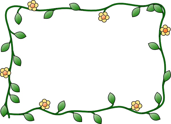 Flowers frame clipart picture black and white Flower Frame clip art Free vector in Open office drawing svg ( .svg ... picture black and white