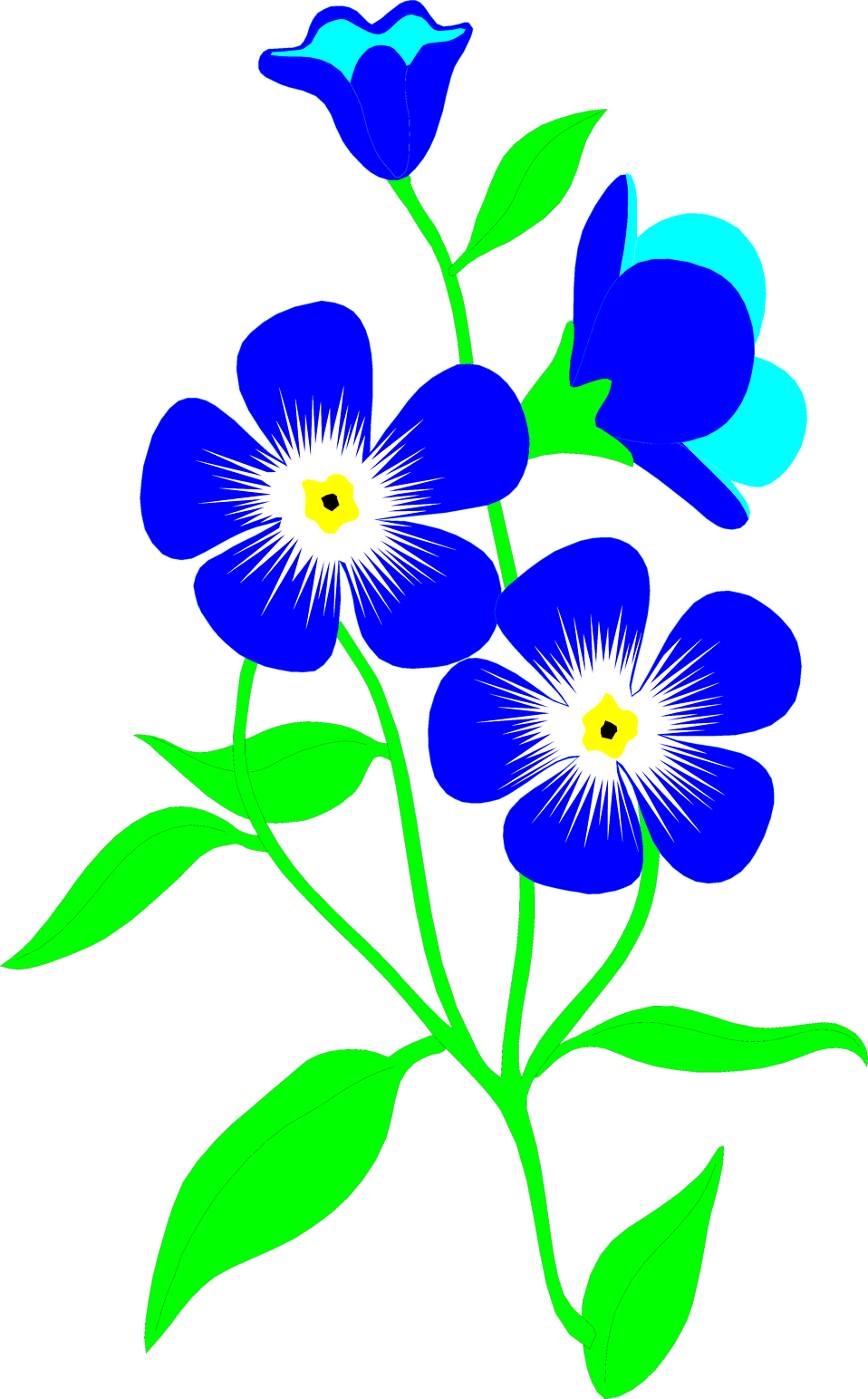 Flowers image free clipart black and white Flowers Blue | Free Stock Photo | Illustration of blue forget-me-not ... clipart black and white