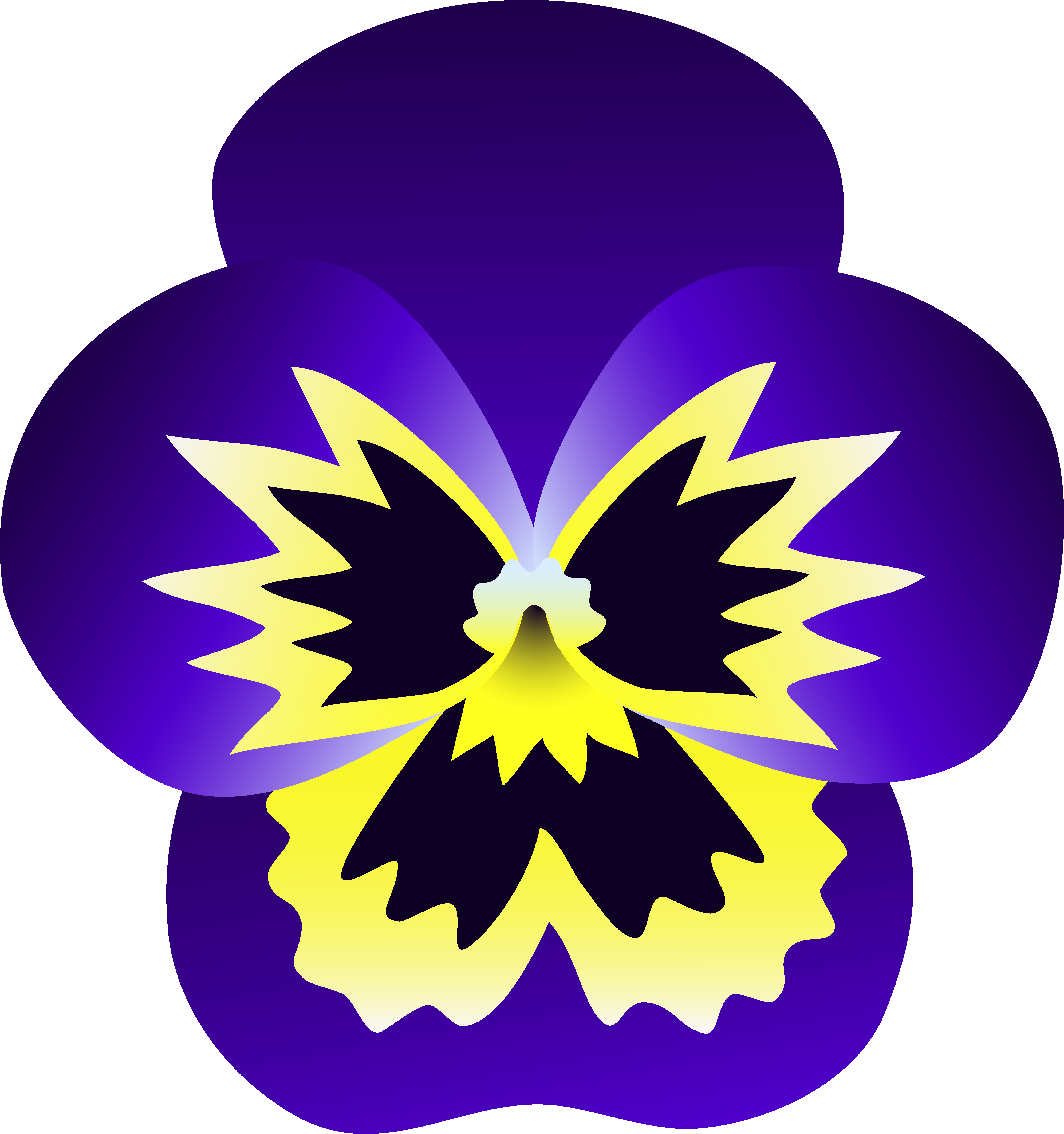Flowers free clip art clip art free download Purple and Yellow Pansy Flower - Free Clip Art clip art free download