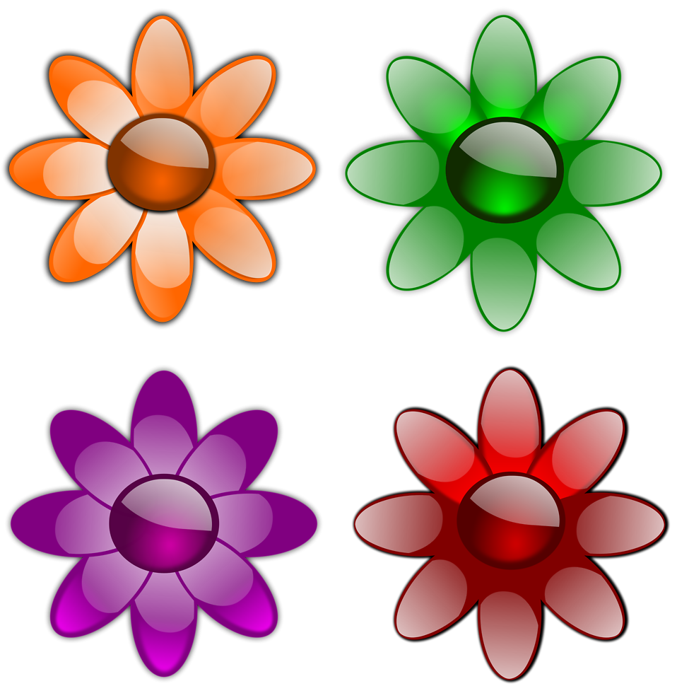 Flowers free image clip free Flowers | Free Stock Photo | Illustration of a set of flowers | # 16854 clip free