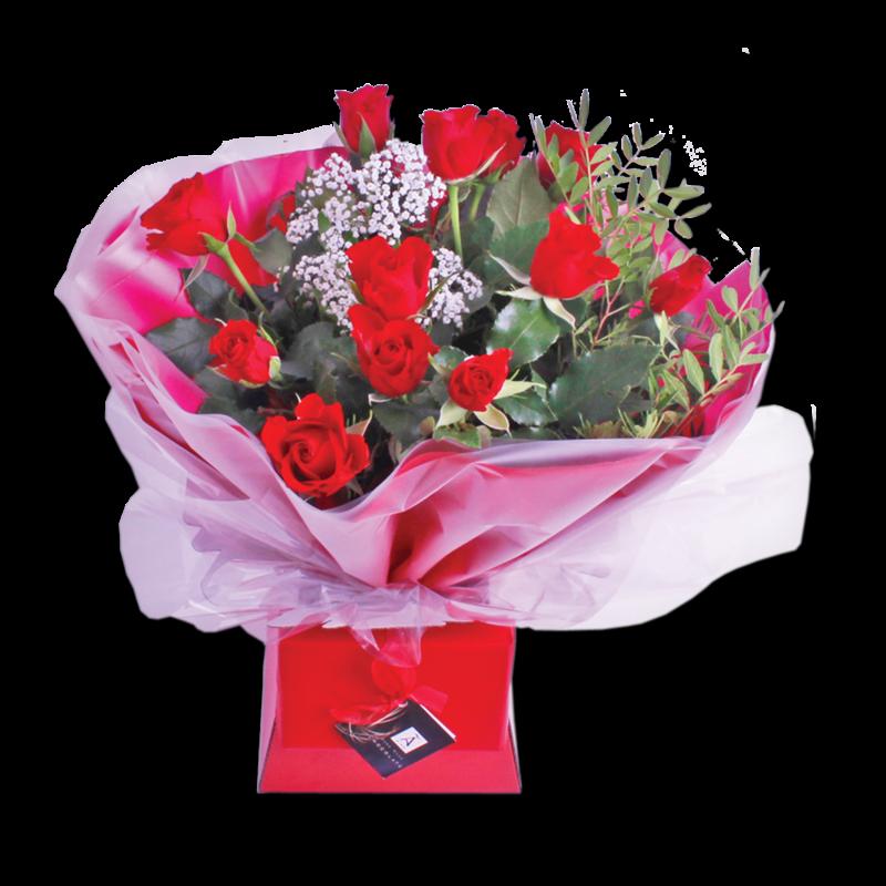Flowers free photos svg transparent stock Romance Flowers + Free Chocolates Gift Box - Centra svg transparent stock