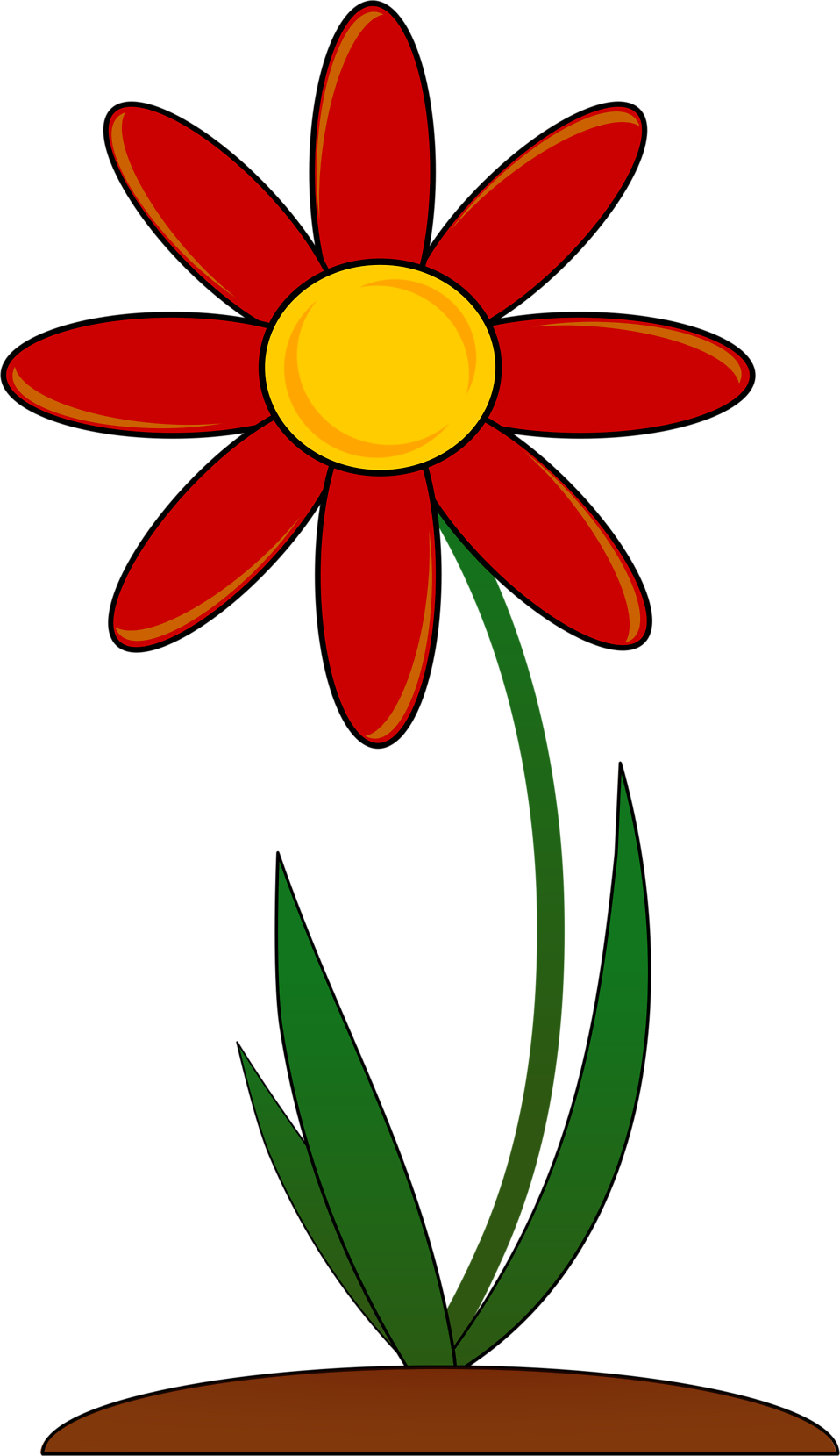 Flower in clipart. Red free stock photo