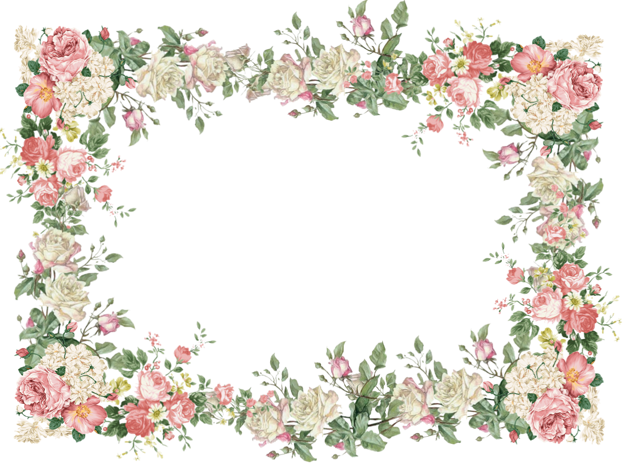 Free vintage flower clipart clip black and white library Vintage Pink | free vintage flower frame png: white and pink roses ... clip black and white library