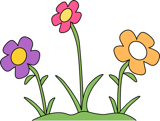 Free flower clip art. Flowers in the garden clipart