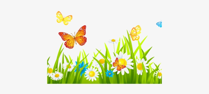 Beautiful flower drawing border. Flowers in the garden clipart