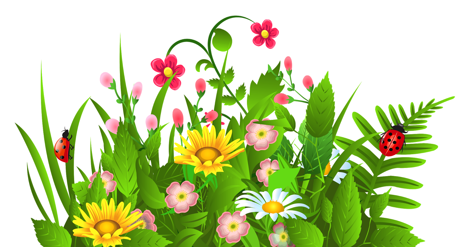 Free flower cliparts download. Flowers in the garden clipart