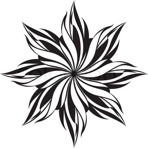 Flowers patterns vector clipart clipart freeuse library black and white patterns | Free Black and White stencil ... clipart freeuse library