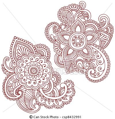 Flowers patterns vector clipart graphic free library 17 Best images about Design Patterns on Pinterest | Henna patterns ... graphic free library