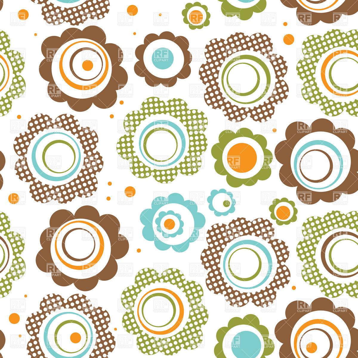 Flowers patterns vector clipart svg freeuse stock Free cartoon flower pattern background clipart - ClipartFest svg freeuse stock